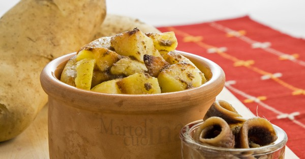 Patate trifolate all'acciuga