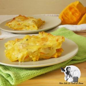 Lasagne bianche di zucca e gorgonzola