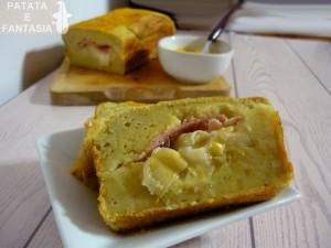 Plumcake di patate con prosciutto cotto e mozzarella