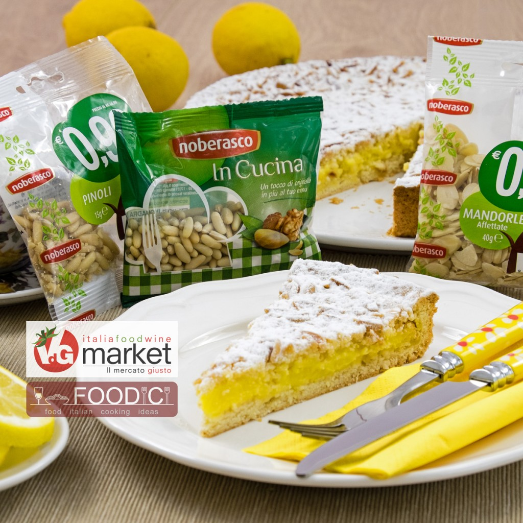 Crostata con frolla di mandorle e crema al limone