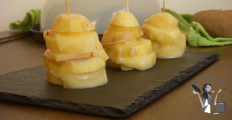 Torrette di patate e formaggio a microonde