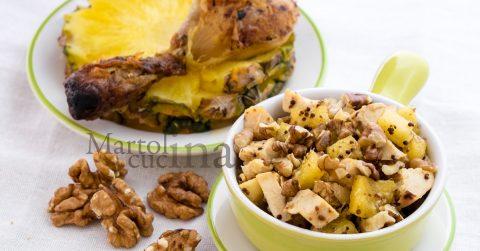 Insalata di pollo light con ananas e noci