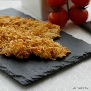 Petto di pollo con corn flakes cotti al forno