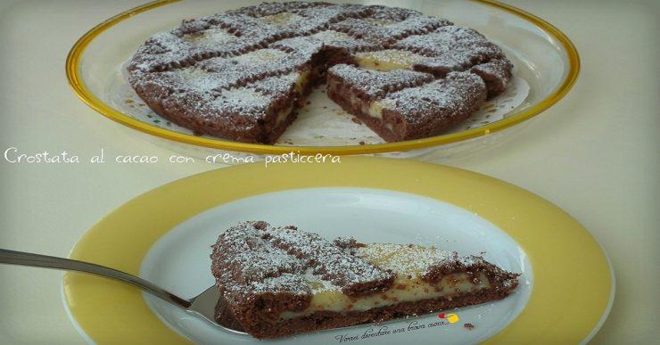 Crostata al cacao con crema pasticcera (1)