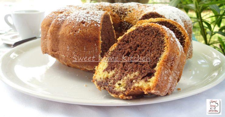 torta bicolore facile