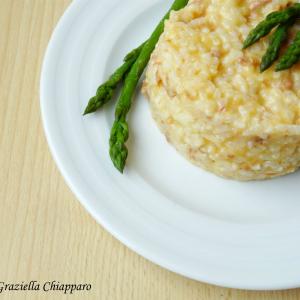 risotto con asparagi selvatici e salsiccia 300x