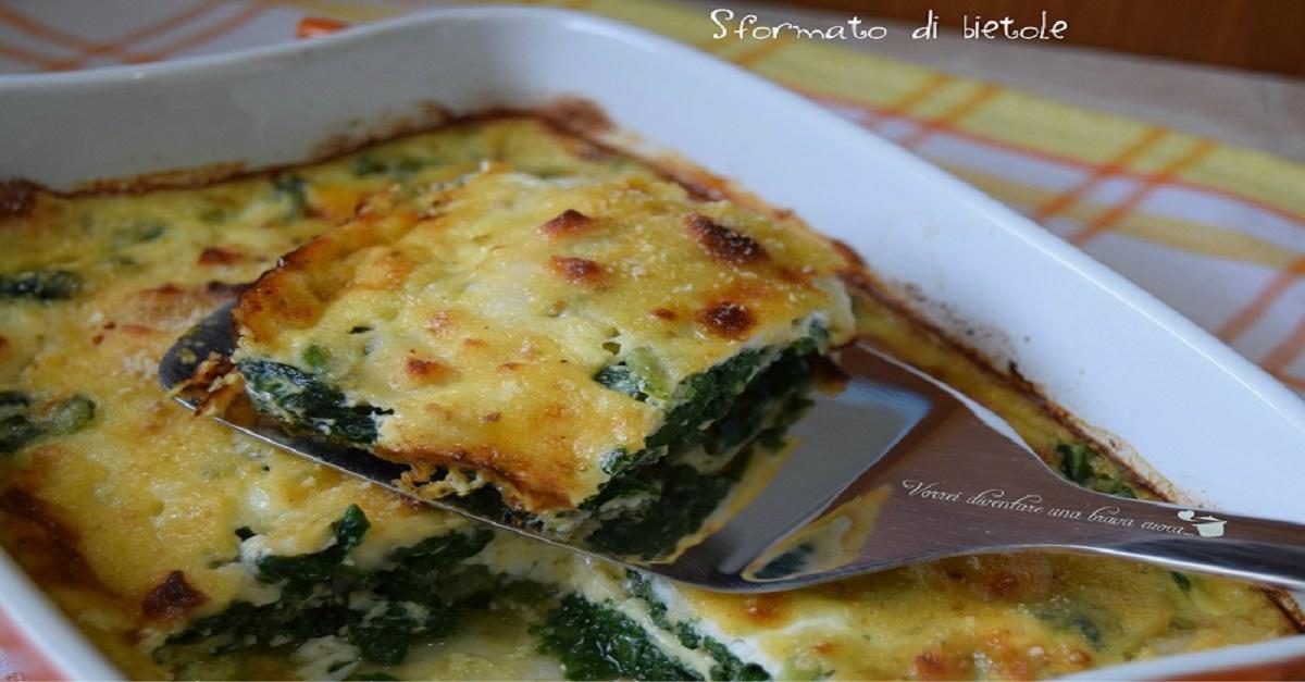 Sformato di bietole vorrei diventare una brava cuoca for Ricette italiane veloci