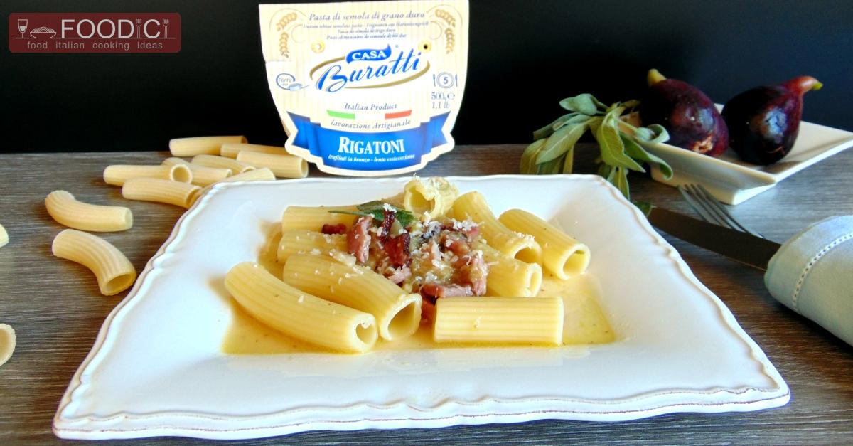 Rigatoni con fichi e speck food italian cooking ideas for Antipasti ricette italiane