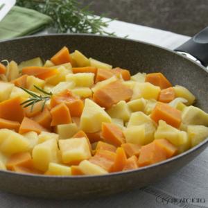 zucca con mele e patate