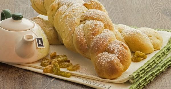 Pan brioche con uvette
