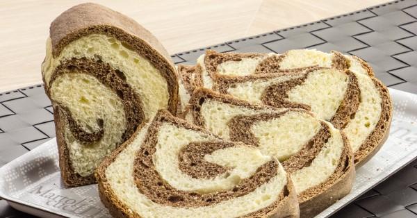Pan brioche vaniglia e cacao